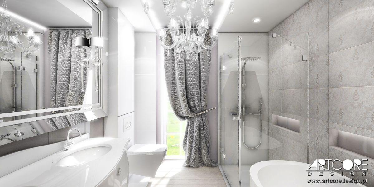 luksusowa łazienka projekt wnętrza ekskluzywnego