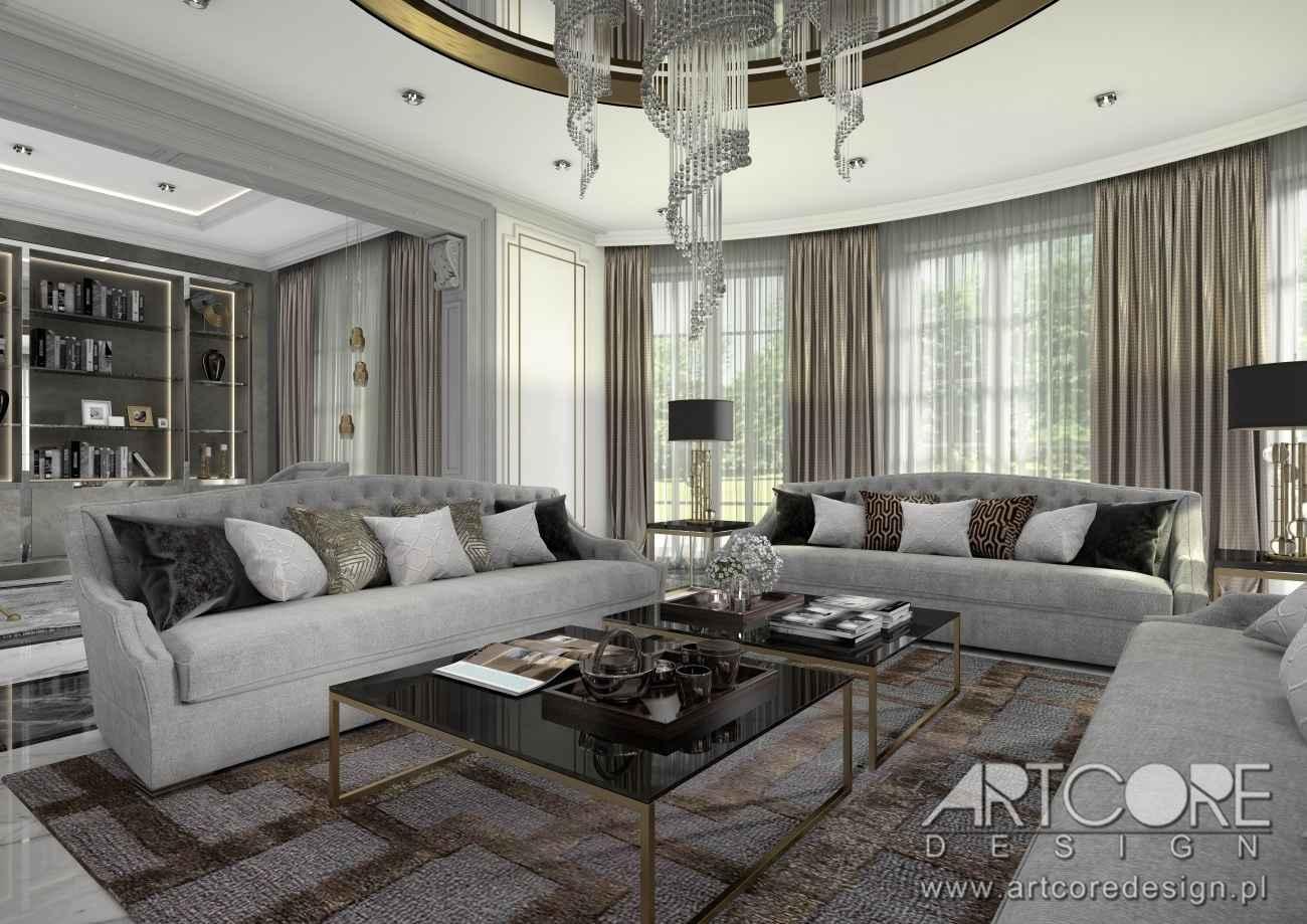 wn trza w stylu art deco artcore design projekty wn trz. Black Bedroom Furniture Sets. Home Design Ideas
