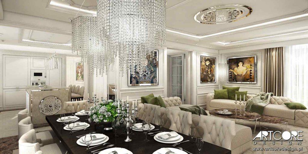 salon w stylu amerykańskim projektowanie wnętrz