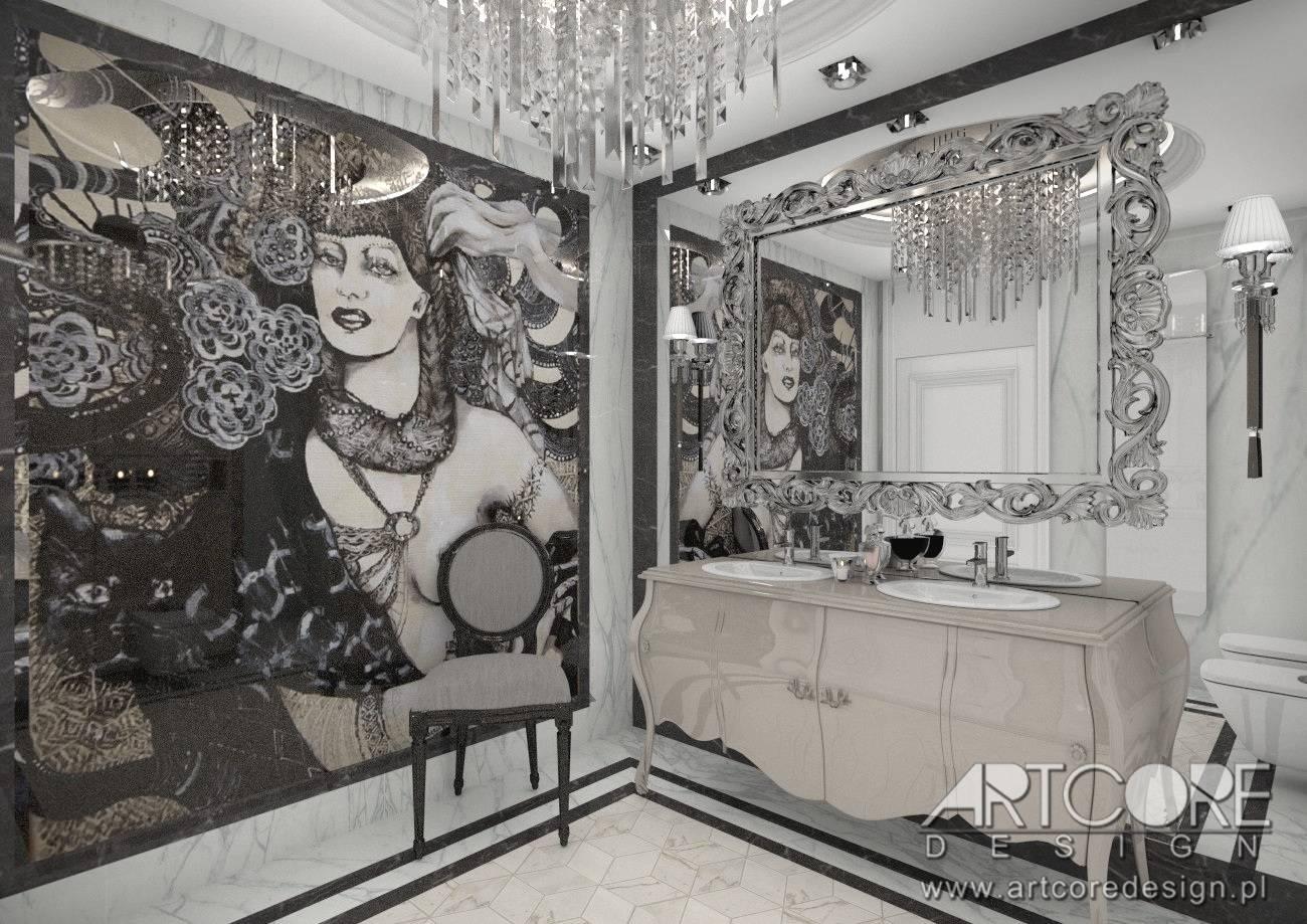 łazienka nowoczesna z elementami stylu klasycznego