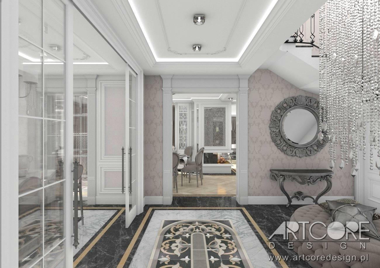 korytarz hol styl klasyczny pałacowy