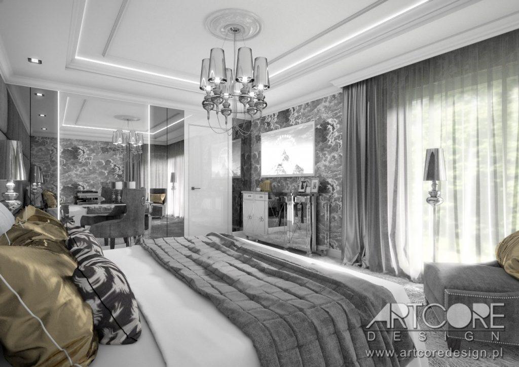 projekt wnętrza sypialni w stylu włoskim