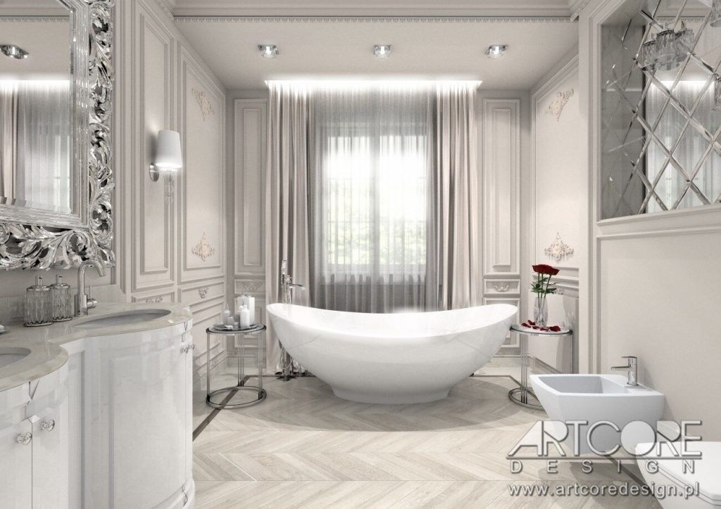 sztukateria w łazience architekt wnętrz