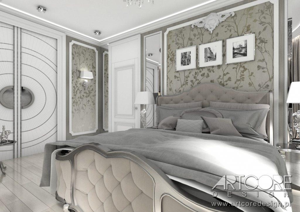 sztukateria we wnętrzu sypialni