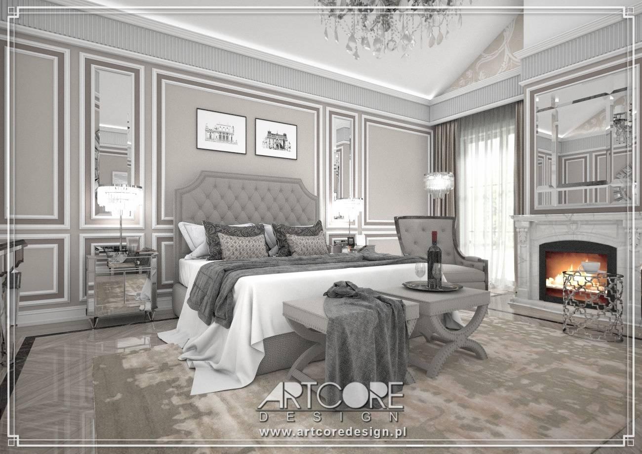 sypialnia ze sztukaterią architekt wnętrz wrocław