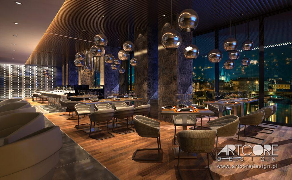 projekt restauracji i projektowanie wnętrz