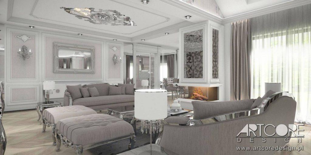 klasyczne wnętrza salon projekt wystrój