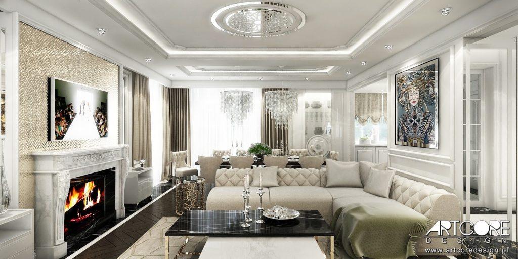 ekskluzywny salon domu w Warszawie