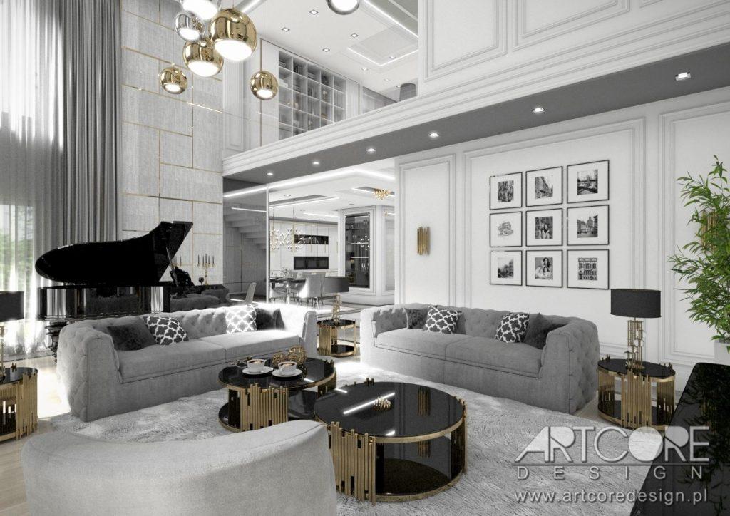 wnętrze salonu we włoskim stylu