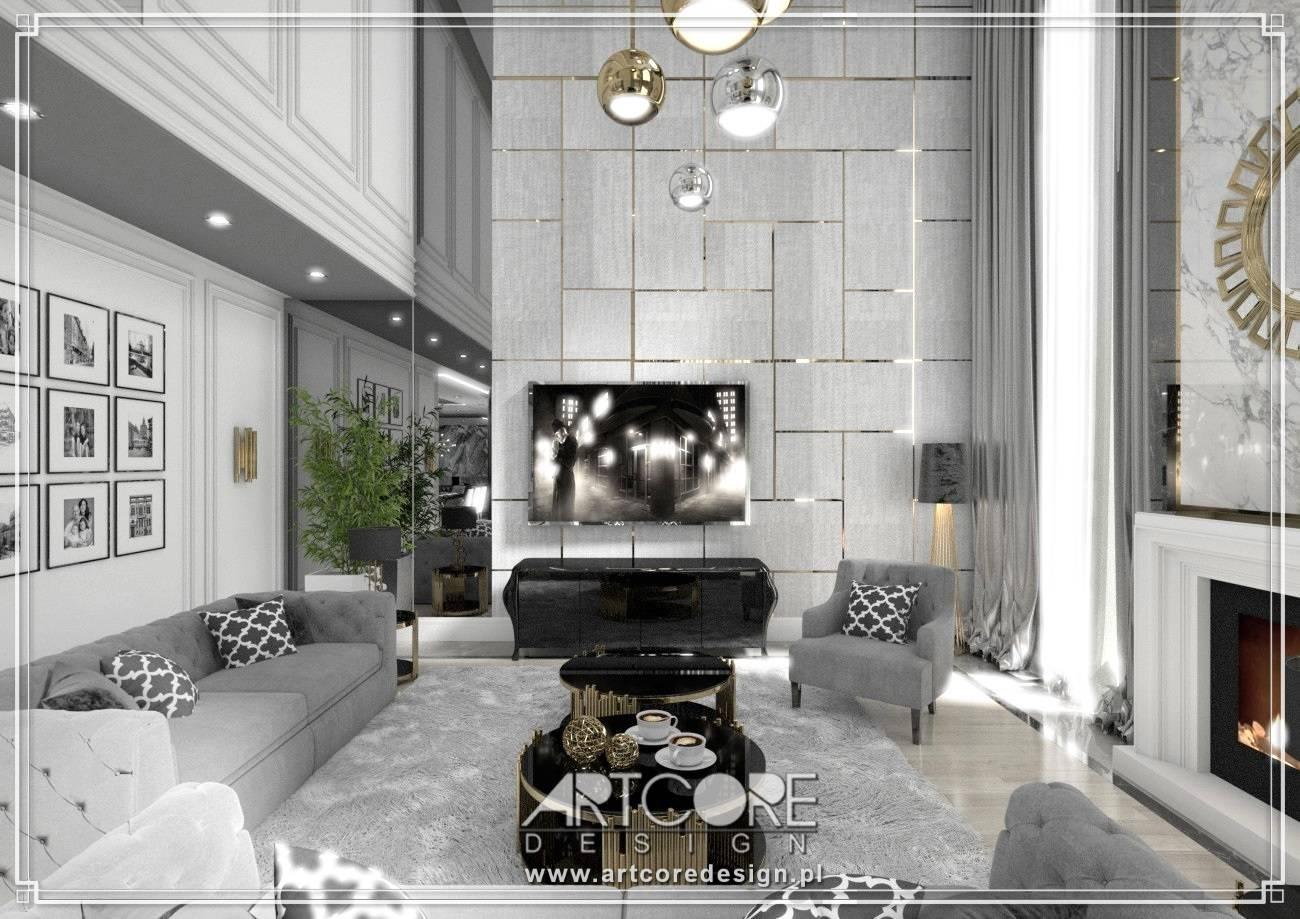 salon architekt wnętrz sztukateria i złoto