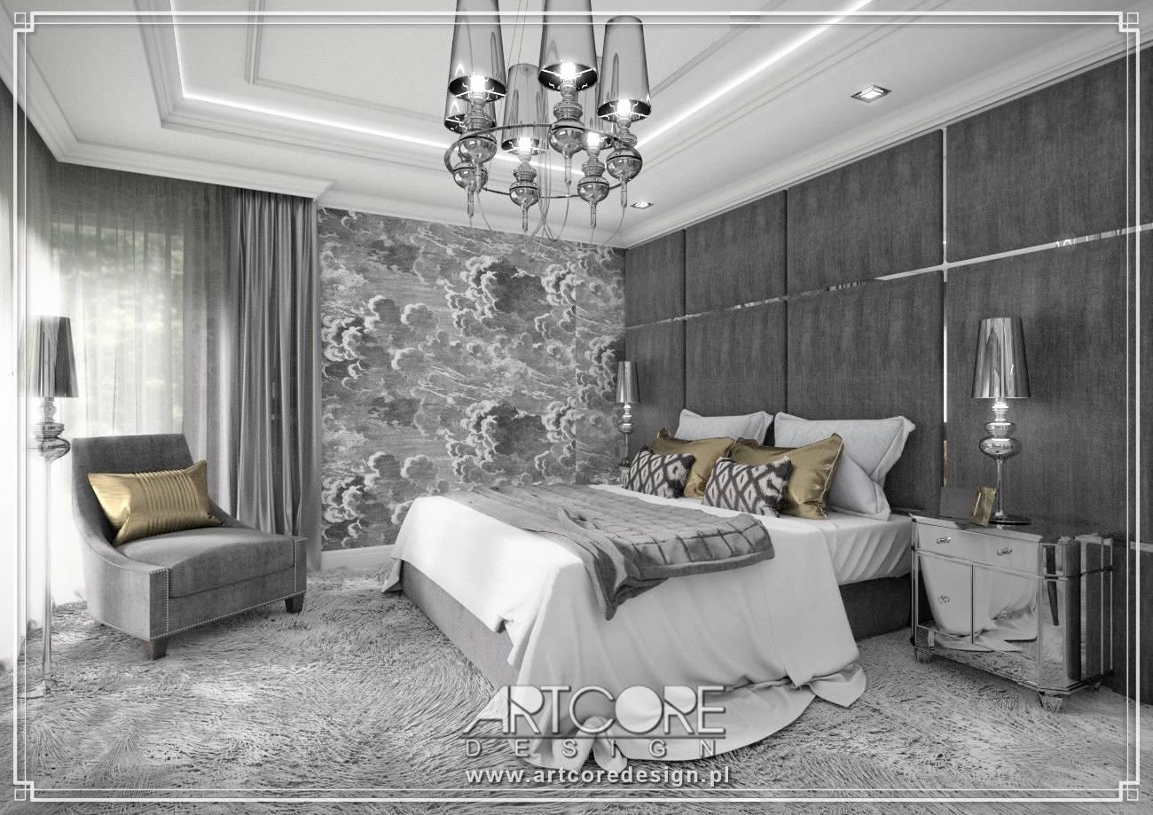 sypialnia architekt wnętrz krakó klasyczne wnętrze