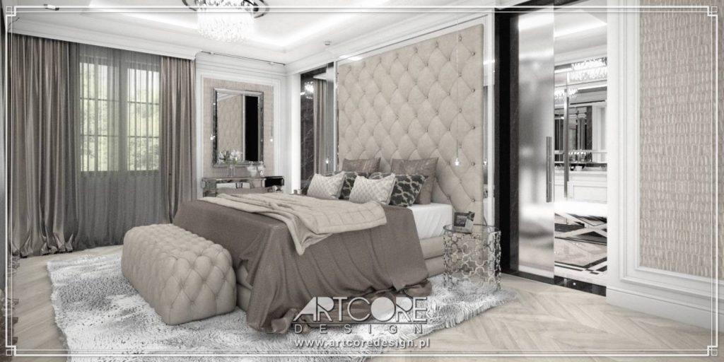 sypialnia wnętrze klasyczne architekt wnętrz warszawa