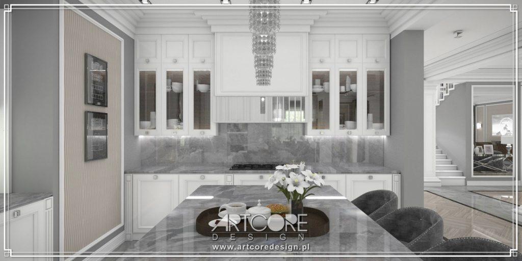 projekt-wnętrza-białej-kuchni-art-deco