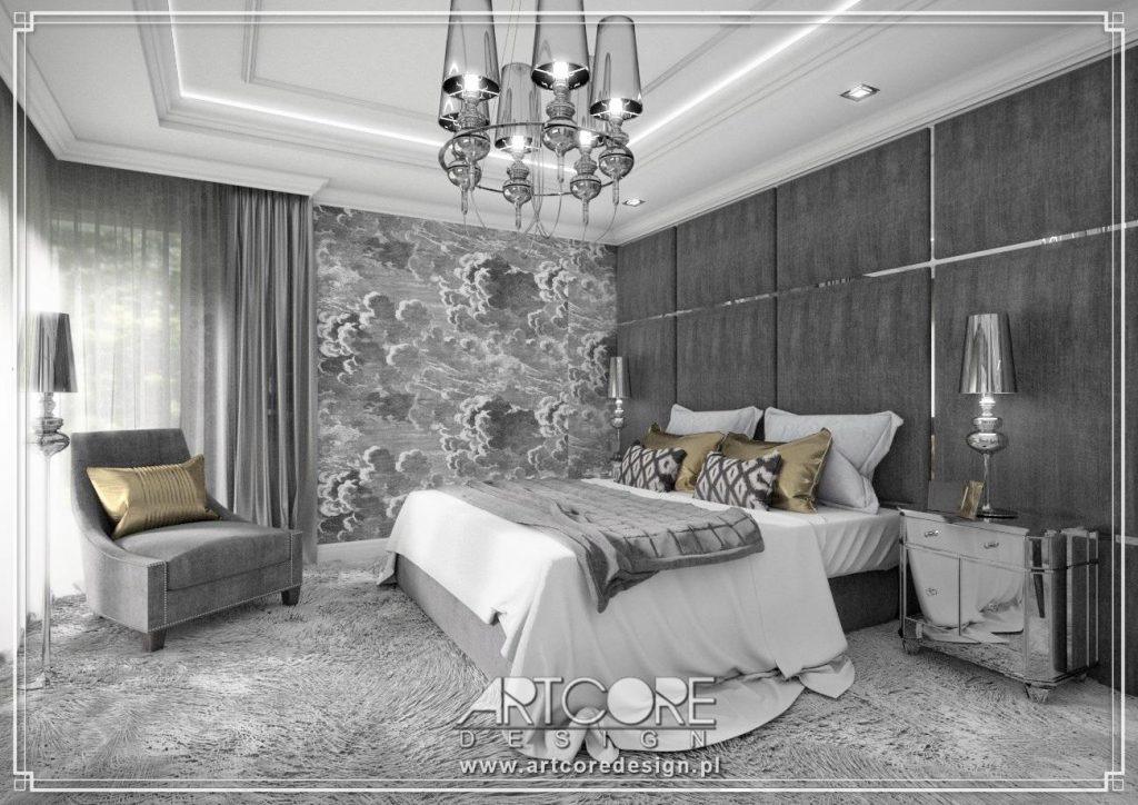projekt luksusowej sypialni eleganckie wnetrze