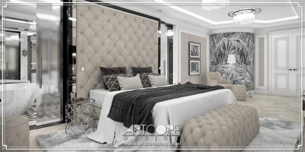wnetrze luksusowa sypialnia w domu
