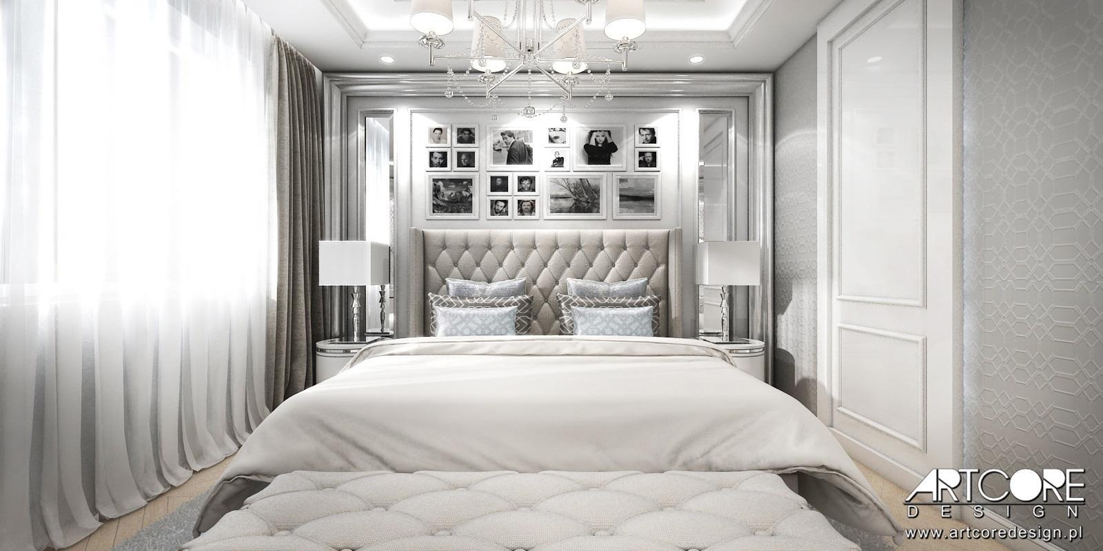 projektowanie wnętrz apartamentu glamour