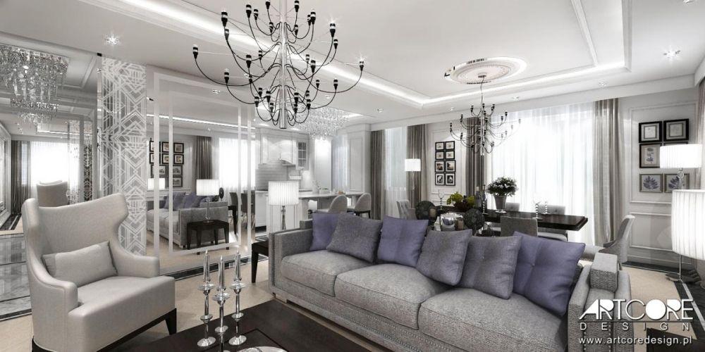 salon w stylu glamour warszawa kraków projekt