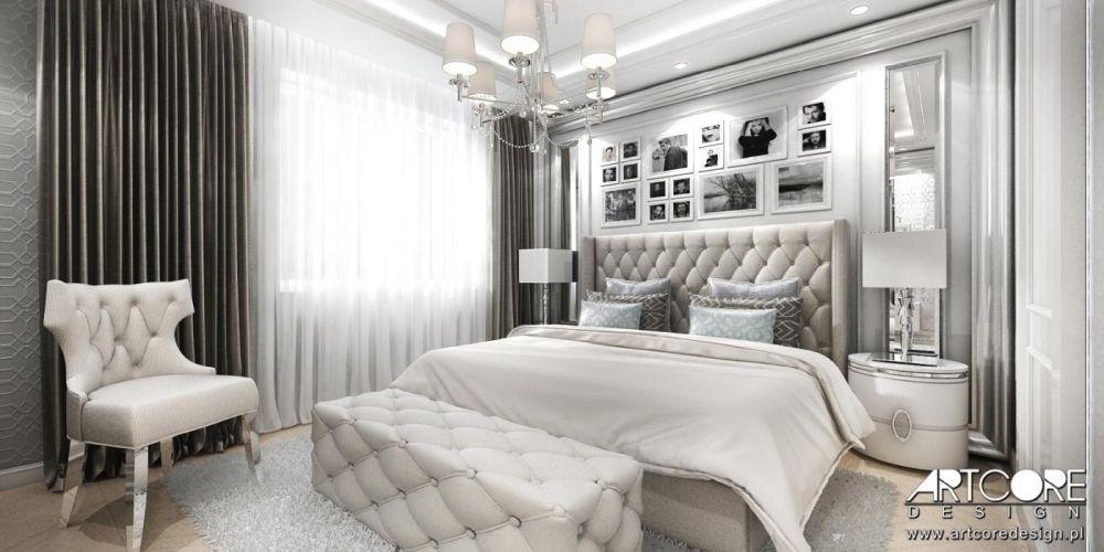 sypialnia w stylu glamour architekt wnętrz