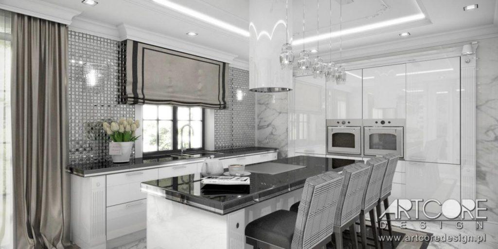 warszawa projekt wnętrza kuchni cennik