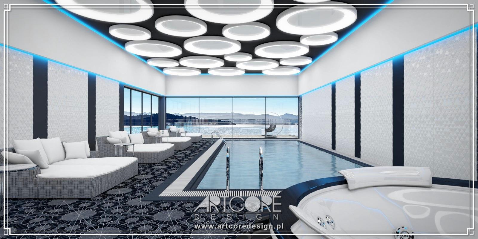 projekty wnętrz luksusowych basenów