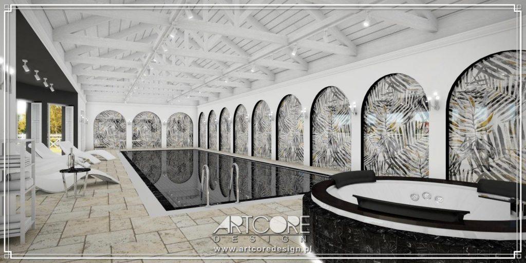 aranżacja wnętrza luksusowego basenu