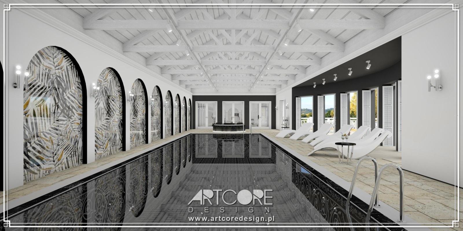 projekt wnętrza ekskluzywnego basenu architekt wnętrz