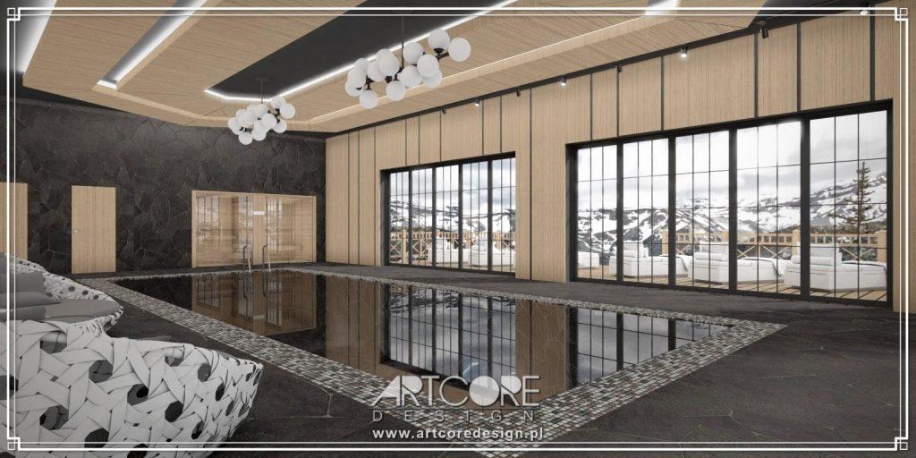 luksusowy basen projekt wnętrza