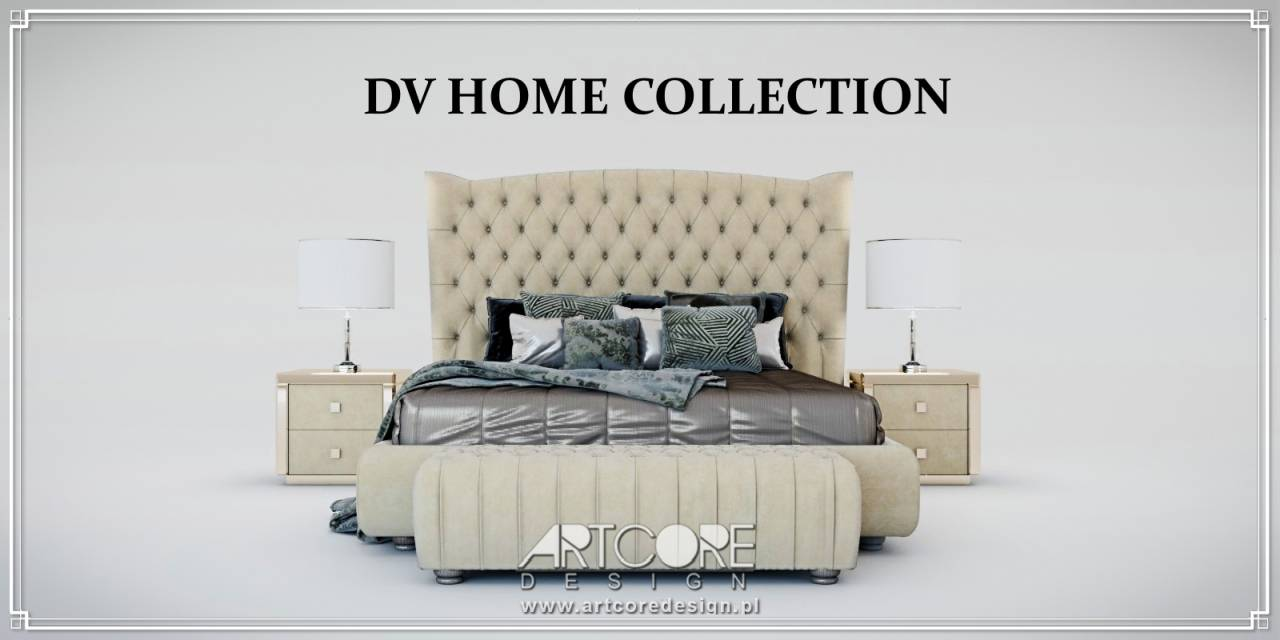 Luksusowe meble dv home collection łóżko