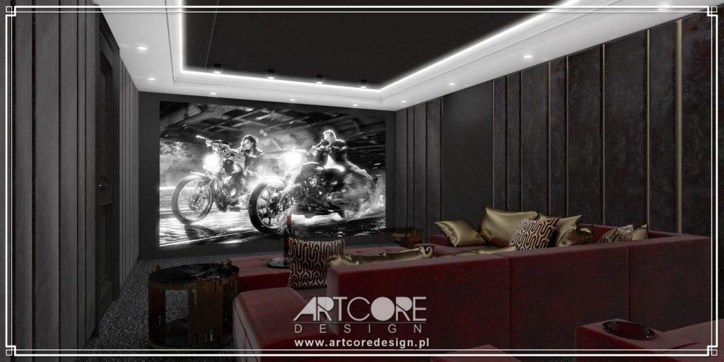 domowe kino wnętrze