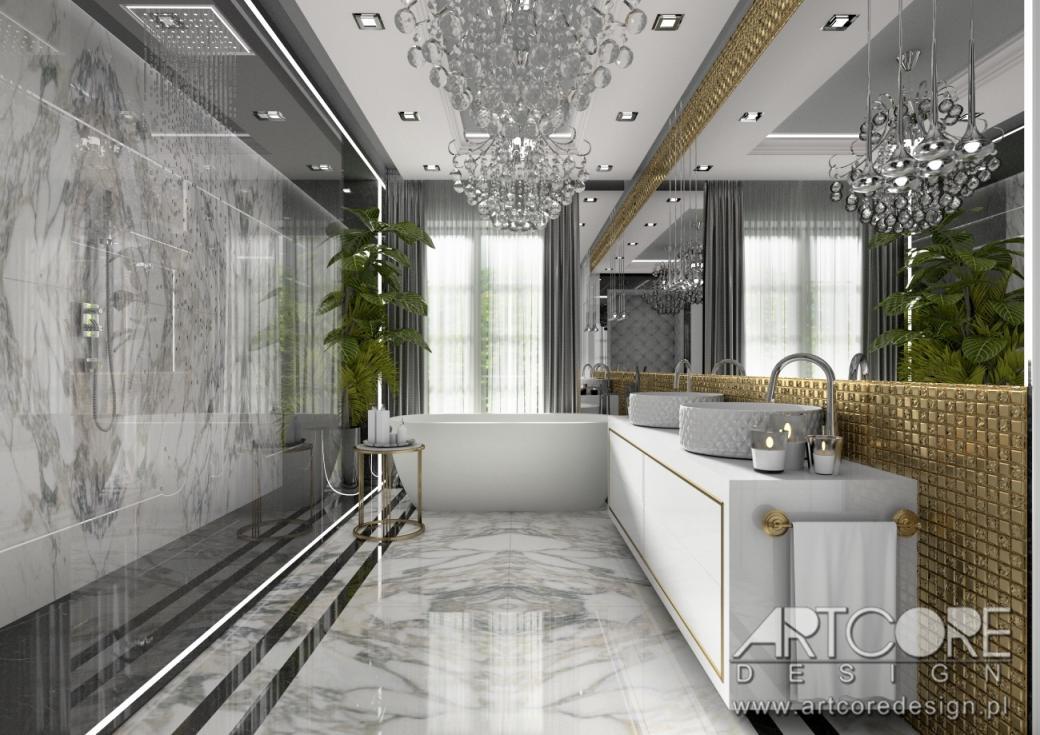 luksusowa łazienka glamour