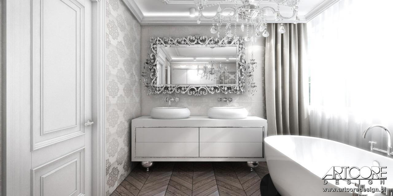 luksusowa łazienka glamour projekt wnętrza