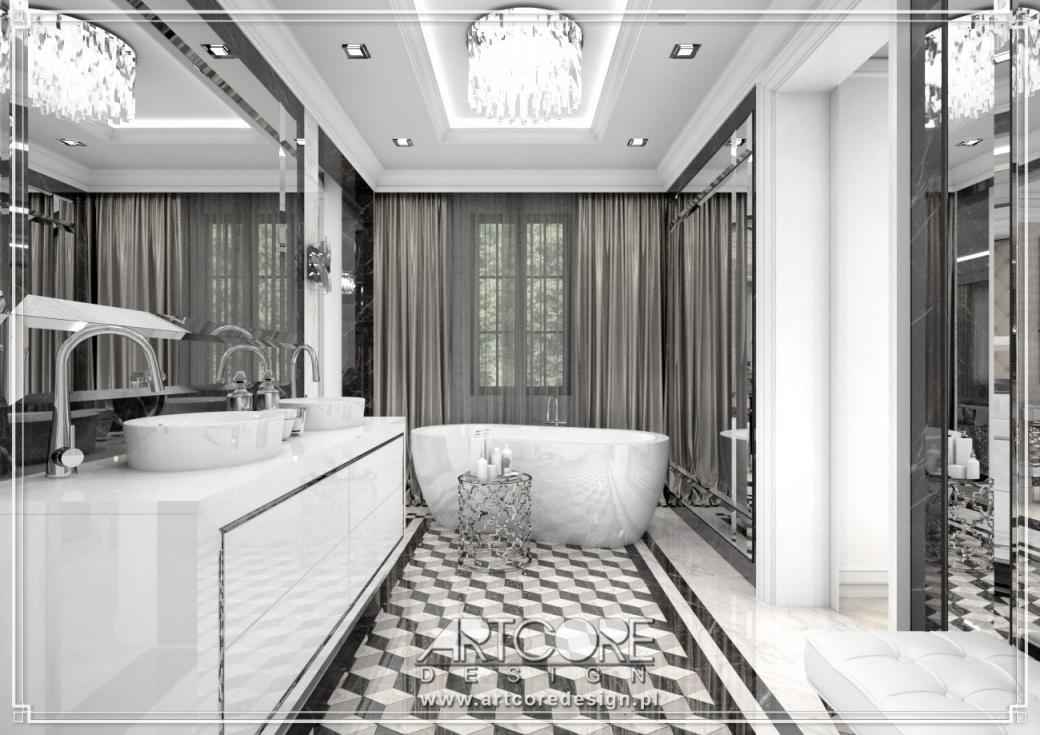 luksusowa łazienka klasyczna projekt wnętrza