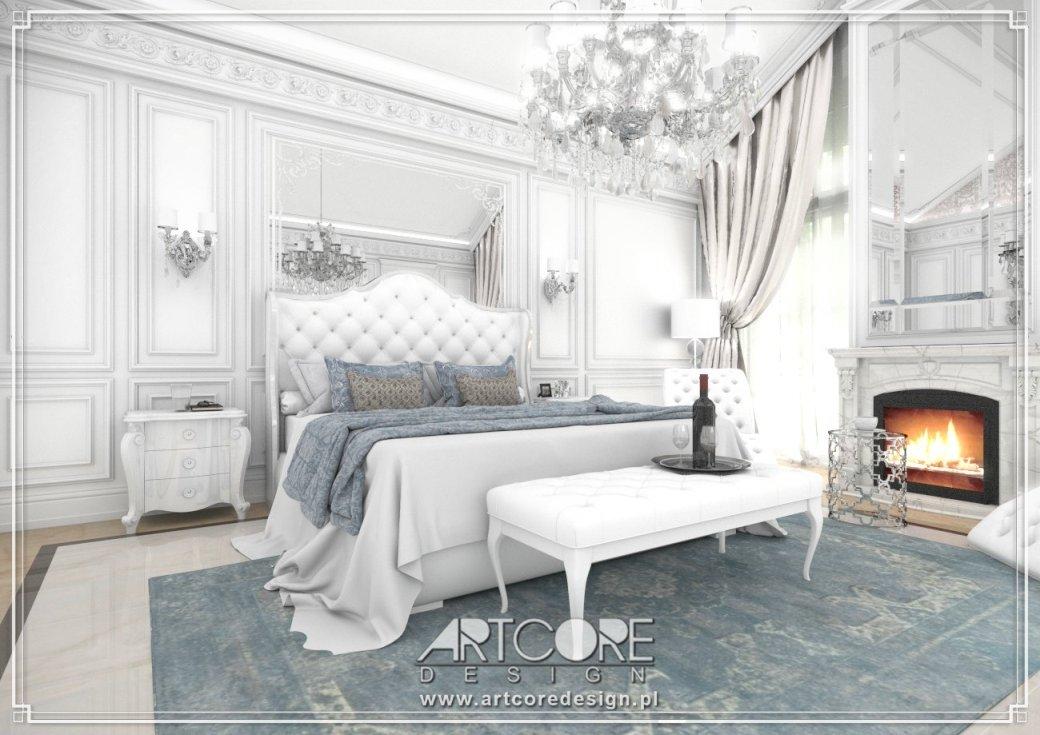 sypialnia w stylu glamour projekt warszawa