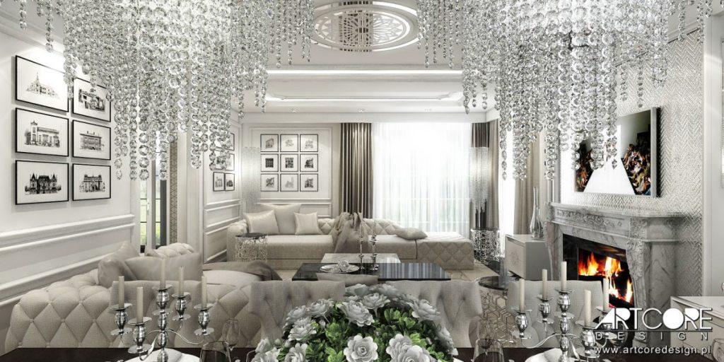 aranżacja wnętrz szczecin projekt glamour salonu