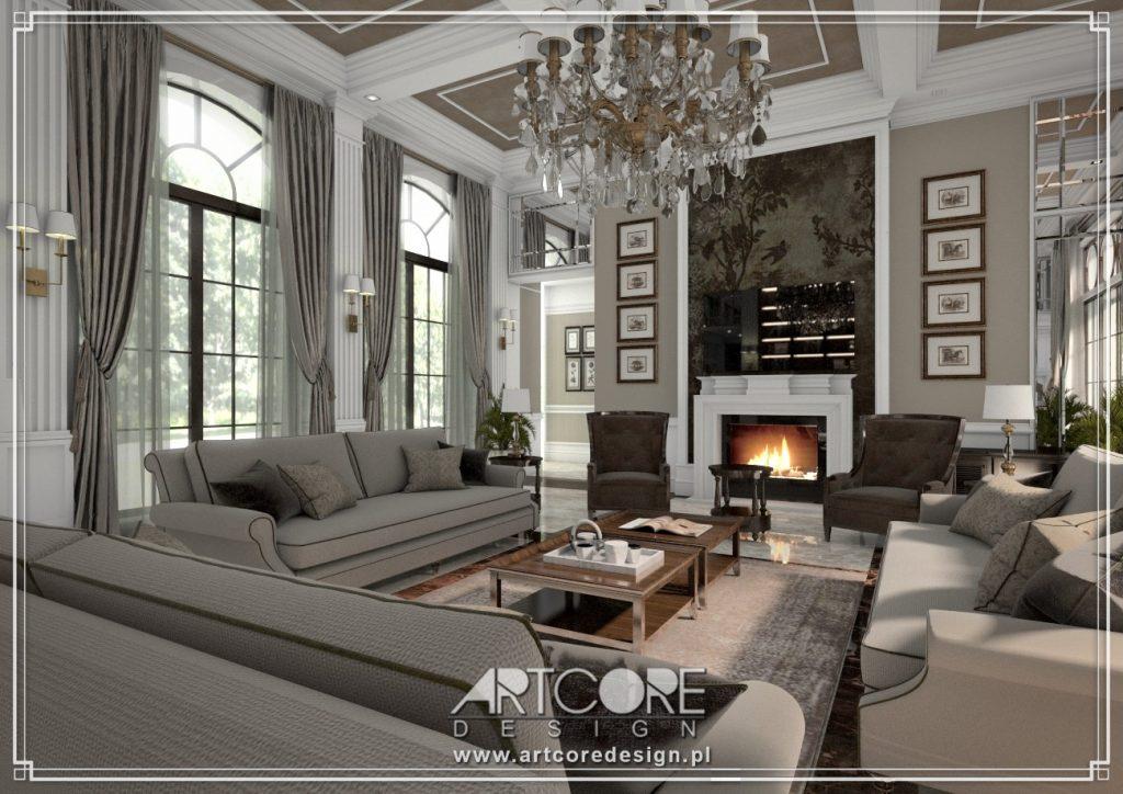 projekt wnętrza luksusowego domu kalisz