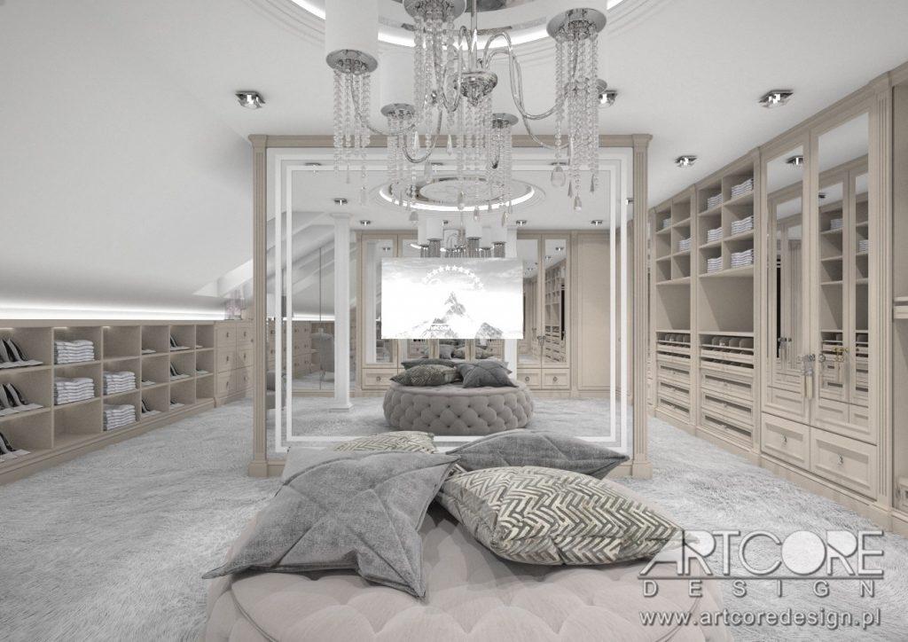 aranzacja wnętrza gardroby w domu