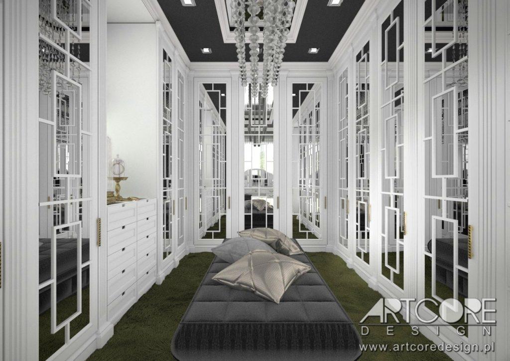 luksusowa garderoba wnętrze