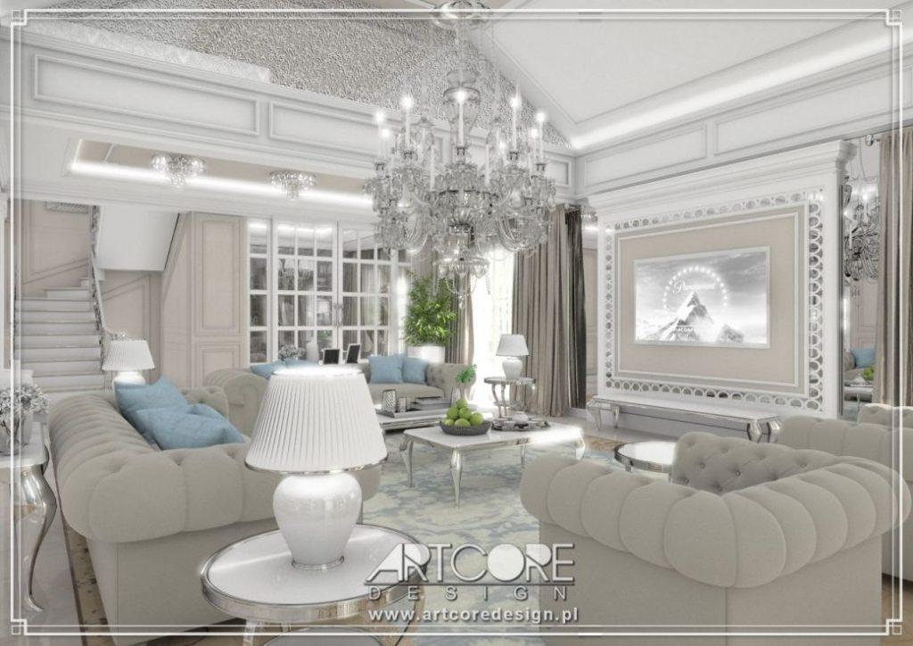 klasyczny salon aranżacja wnętrz