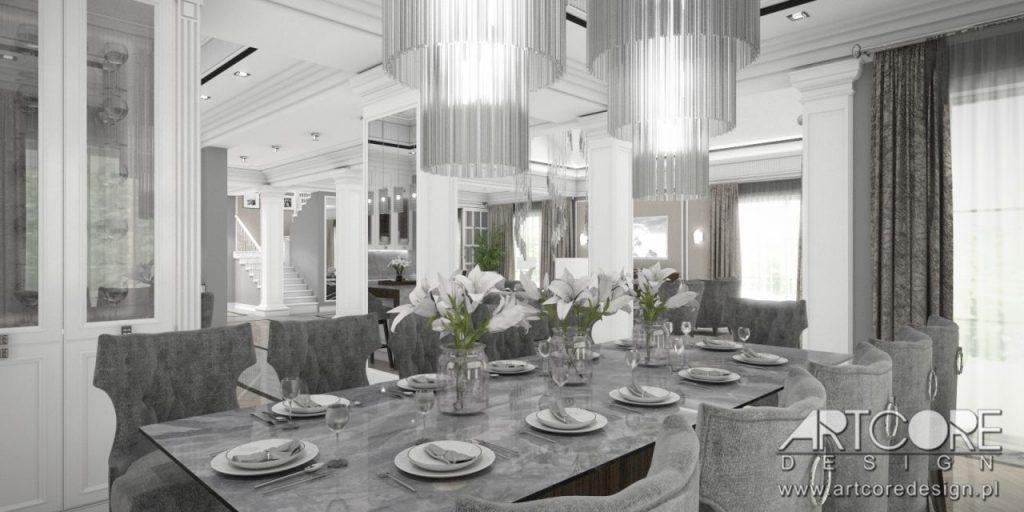jadalnia dom stół wnętrza projekt