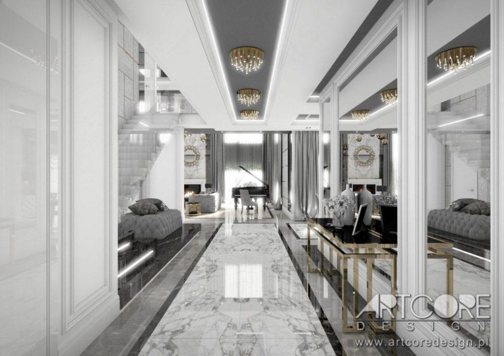 lustra w domu architekt wnętrz projekt