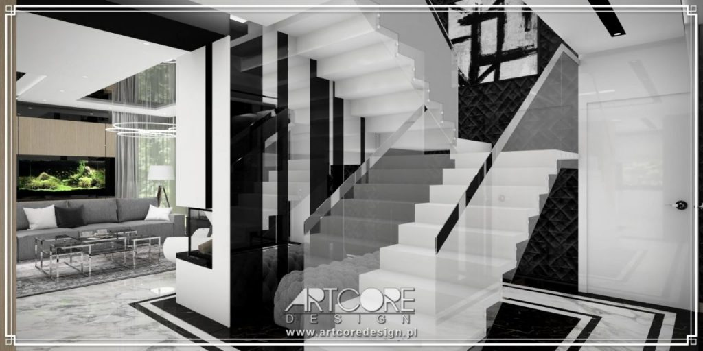 nowoczesne schody do wnętrza domu
