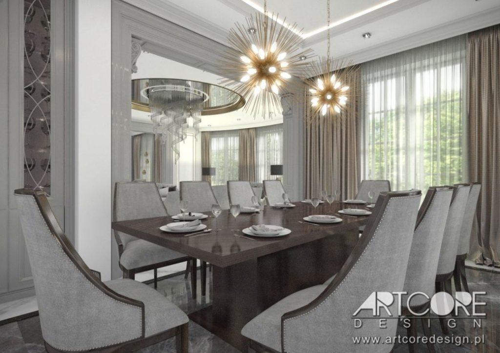 stół do jadalni wnętrze projekt