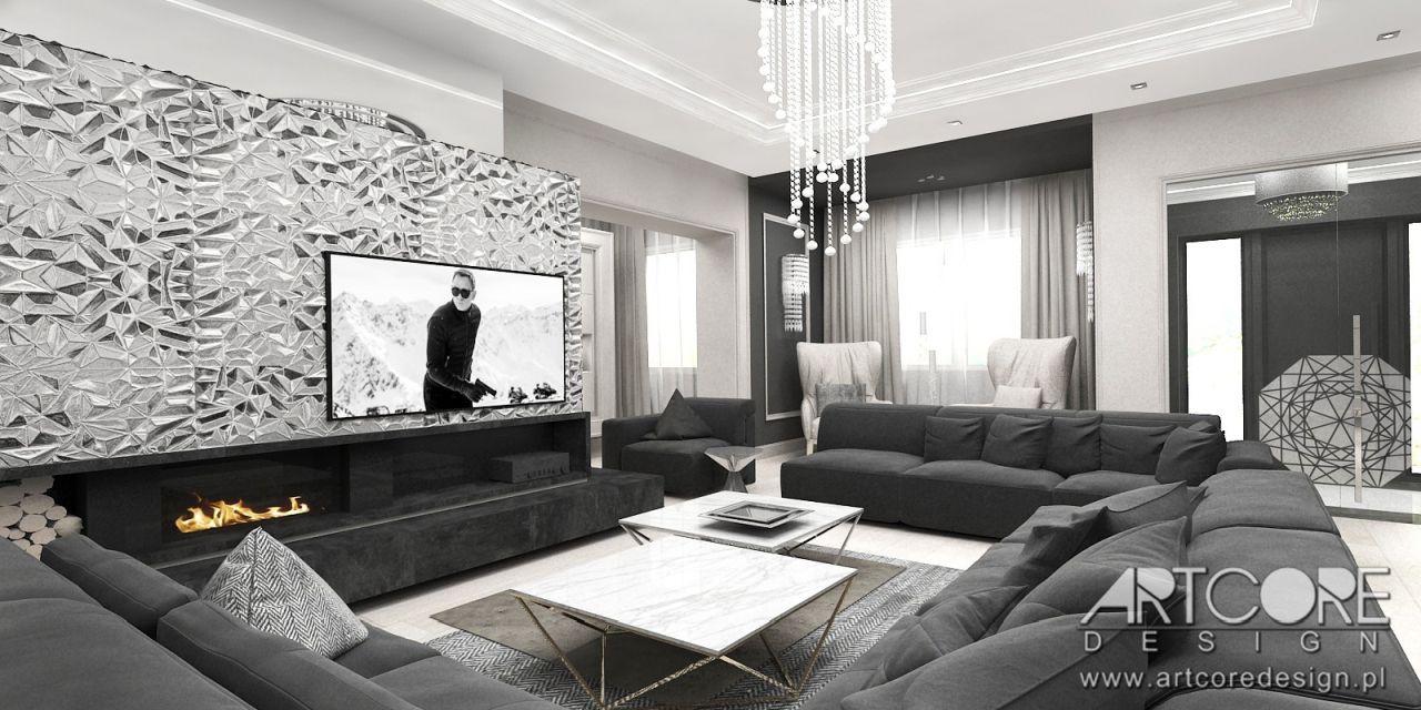 nowoczesny salon w stylu dom design