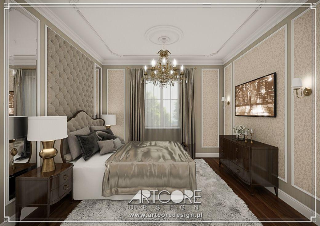 sypialnia w stylu dworkowym polski dworek