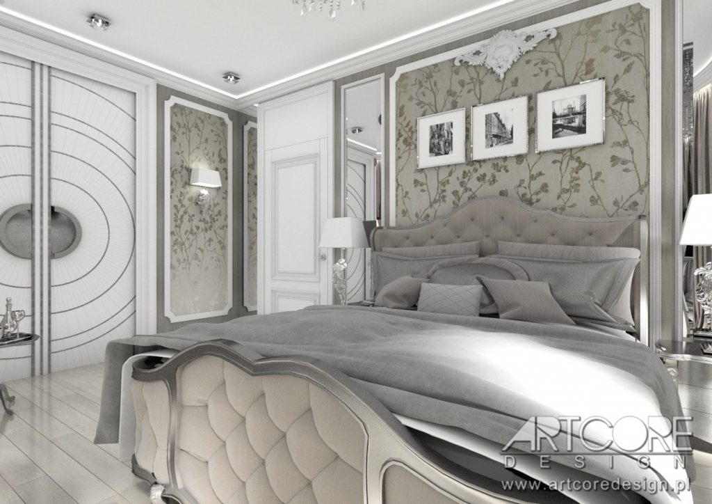 projekt wnętrza biała podlaska sypialnia klasyczna