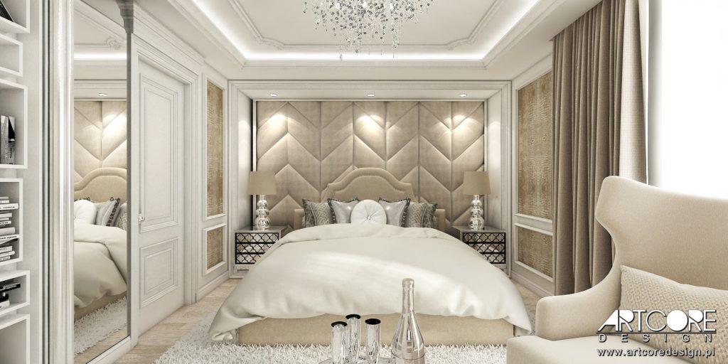 aranzacja wnetrz gniezno projekt sypialni glamour dom