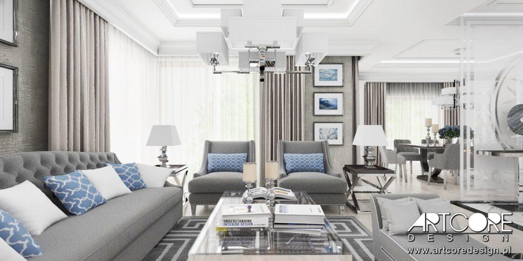 aranzacja wnetrz sandomierz dom salon klasyka projekt domu