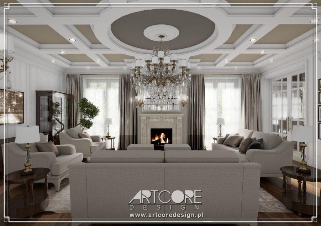 architekt wnętrz olsztyn projekt salonu domu