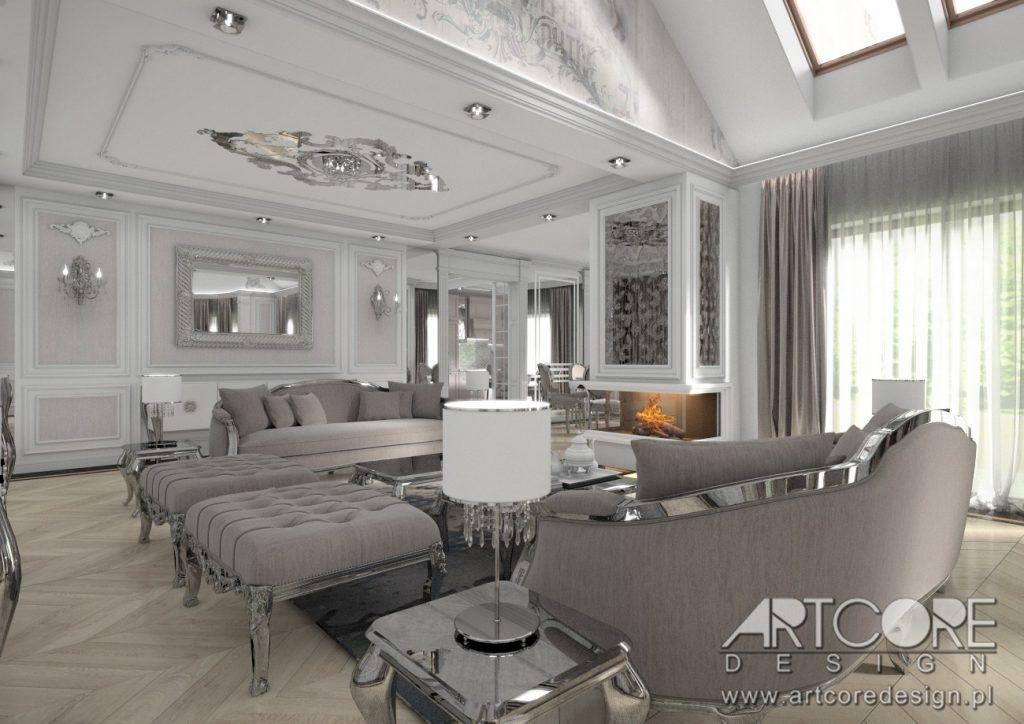 architekt wnętrz sosnowiec projekt salonu dom