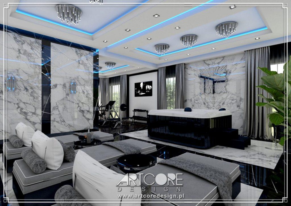 architekt wnętrz wrocław domowe spa projekt domu